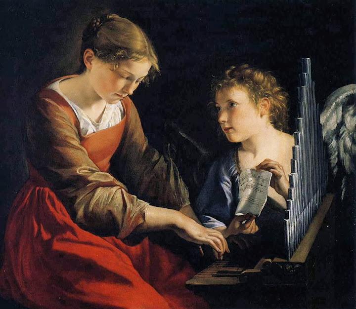 Orazio Gentileschi - Saint Cecilia with an Angel