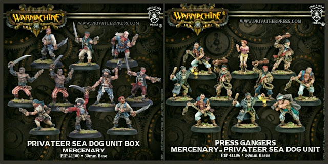 tropas piratas de Warmachine