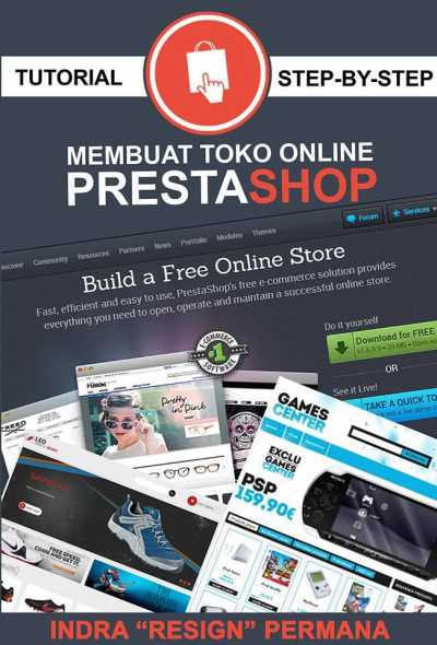 tutorial step by step membuat toko online prestashop