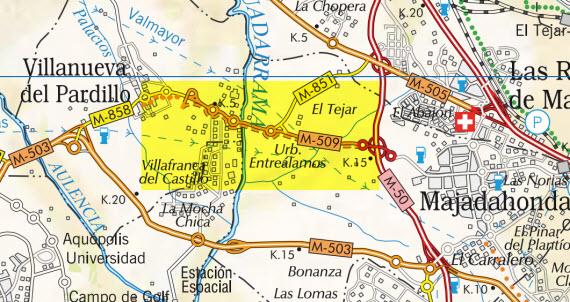 Obras de duplicación de la carretera M-509 entre Villanueva del Pardillo y Majadahonda