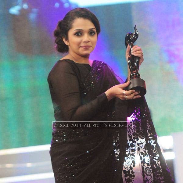 Ann Augustine won the Best Actor award for female in Malayalam for her performance in the film 'Artist' during the 61st Idea Filmfare Awards South, held at Jawaharlal Nehru Stadium in Chennai, on July 12, 2014.