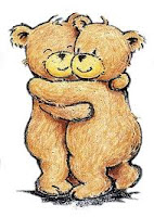 bears hugging, hugging, bear hug, warm hug