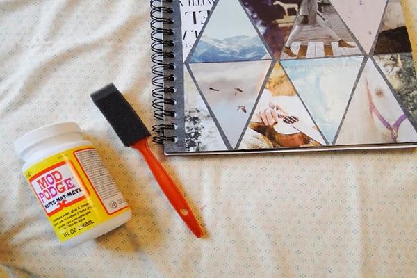 Caderno com colagem