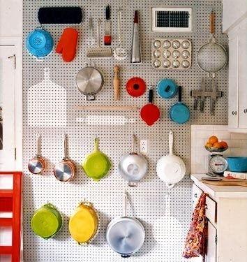 Pegboard Wall Kitchen