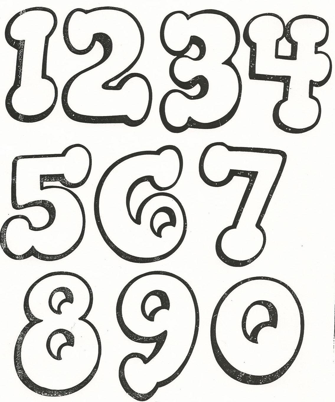 Molde de los numeros en foami - Imagui