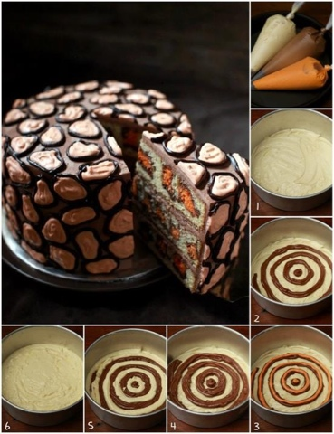 leopar pasta yapılışı resimli tarifi