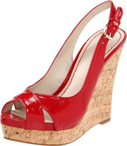 d4ef3bc4a7 Nine West Women's Laffnplay Slingback Sandal,Red Synthetic,10 M US