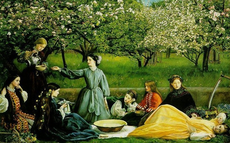 John Everett Millais - Apple Blossoms (spring)