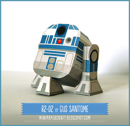 Star Wars Mini R2D2 Paper Toy