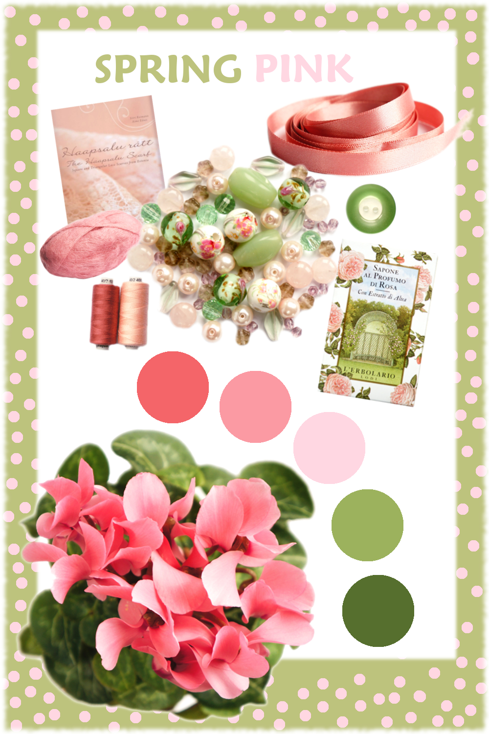 Spring Pink Mood Board {tettidesign}