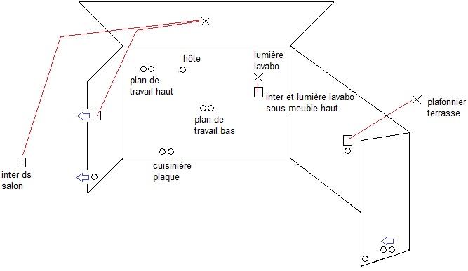 Plan lectrique cuisine et salon notre maison la campagne - Plan electrique cuisine ...