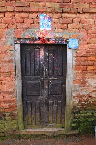 HIndu house markings in Nepal