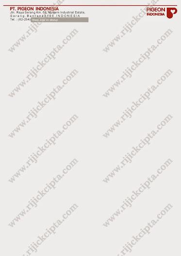 contoh kop surat perusahaan PT. Pigeon Indonesia, perusahaan produsen Baby Product seperti botol, mag-mag atau lainnya