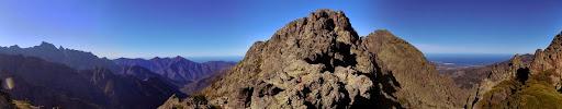 La crête depuis Bocca di Taïta avec la vallée vers le Filosorma et Paglia Orba et le vallon de Meta di Filu