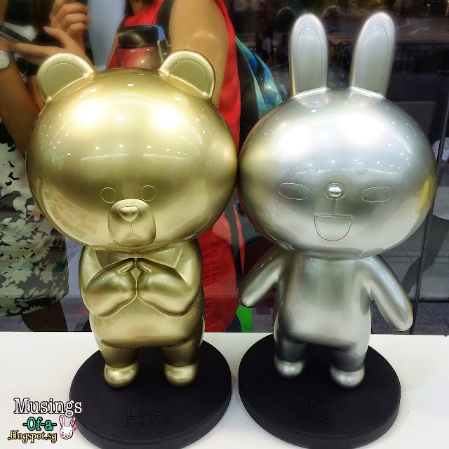 Golden Brown and Silver Cony Figurine