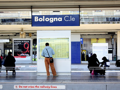 Train station in Bologna Italy