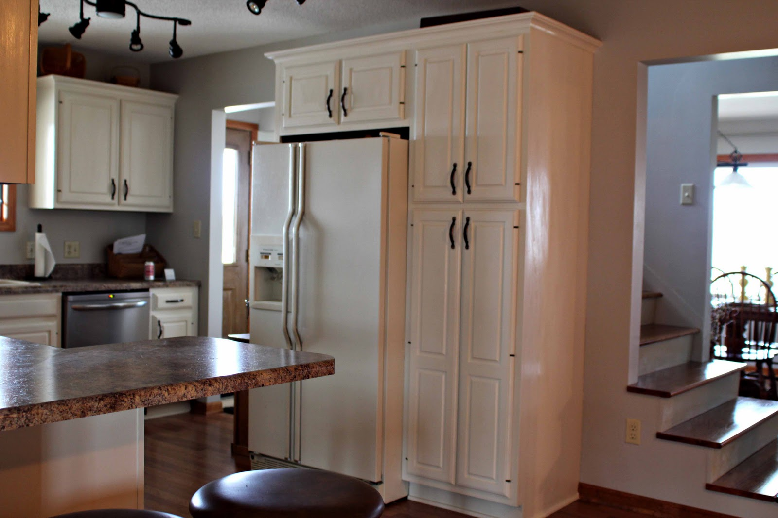 Kitchens Cabinets for around Refrigerator