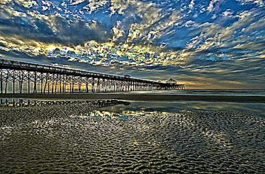 Folly Beach Pier   Charleston South Carolina SC