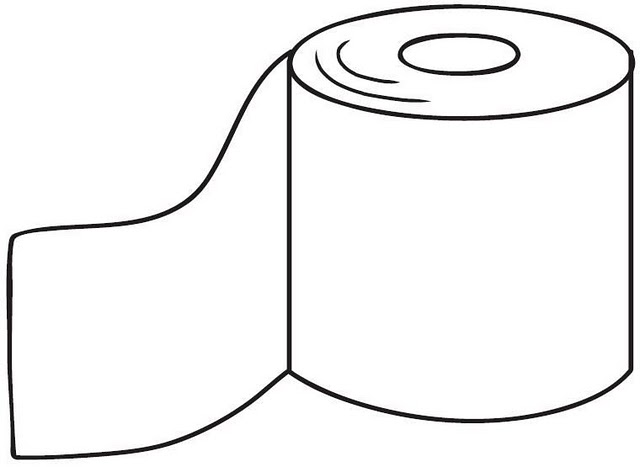 Regadera De Baño Animada:Pinto Dibujos: Rollo de papel de baño para colorear