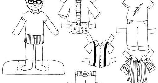 Pinto Dibujos: Muñecos Para Vestir Para Colorear Y Pintar