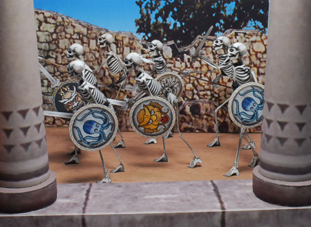 Jason and the Argonauts Papercraft Skeleton Army