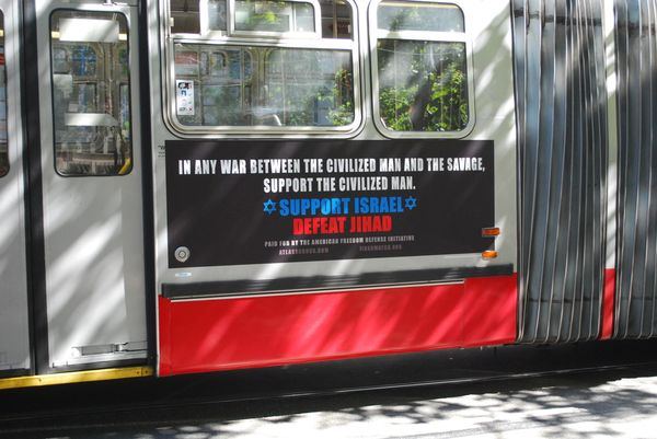 Anti-Muslims, pro-Israel bus ads