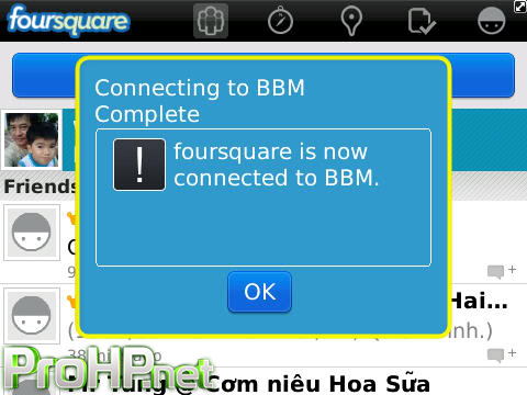 foursquare v5.5.29 for BlackBerry