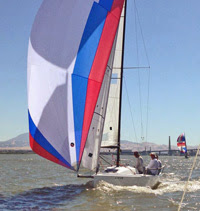 J/70 sailing downwind at Delta Ditch sailboat race