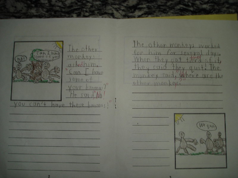 Monkey Story Writing