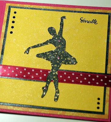 Pinkki-keltainen ballerinakortti
