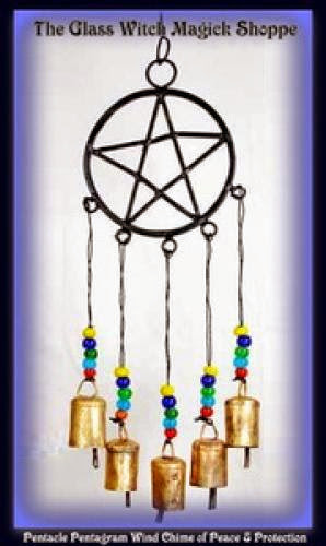 Pentacle Pentagram Wind Chime Of Peace And Protection Fa 15 00