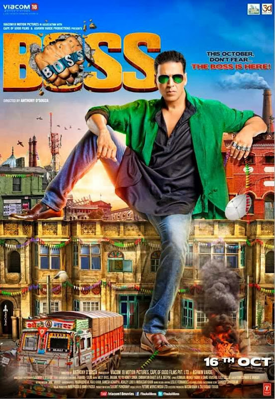 Poster Of Hindi Movie Boss (2013) Free Download Full New Hindi Movie Watch Online At Alldownloads4u.Com
