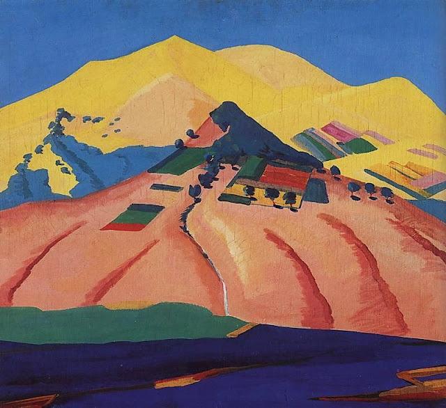 Martiros Saryan - Sunny landscape, 1923