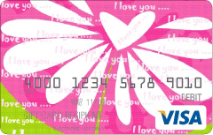 The I Love You Visa Card Image