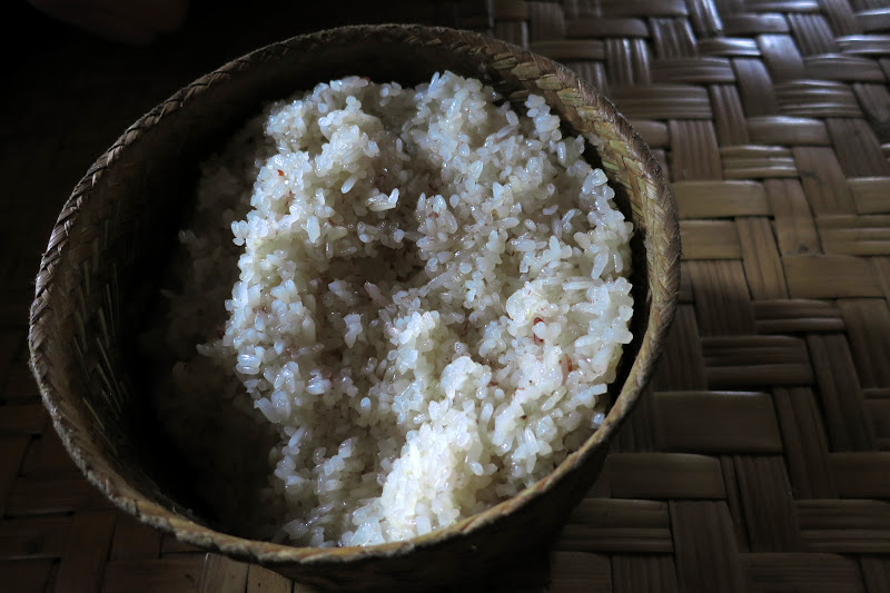 Huge basket of sticky rice