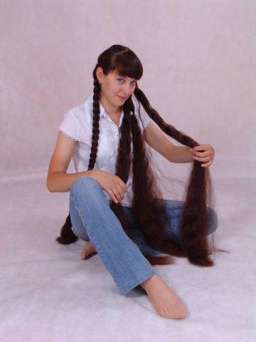 Long Hair Contests women braiding girl twin braids hairstyle