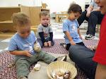 LePort Montessori Preschool Toddler Program Irvine Lake - kids playing with shells