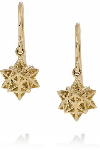 Solange Azagury-Partridge Lonestar Baby 18-karat gold star earrings