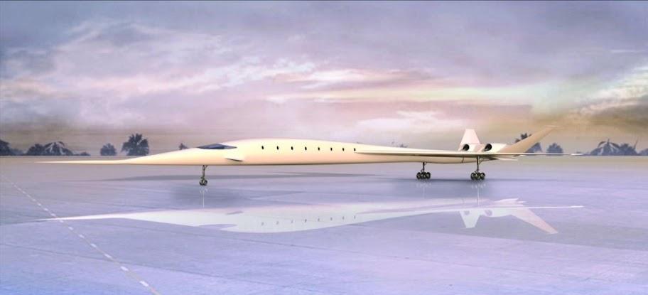 Revolucionario Avión Supersónico Verde