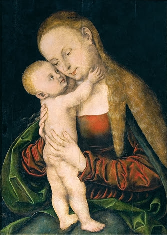 Lucas Cranach the Elder - Madonna and Child (București)