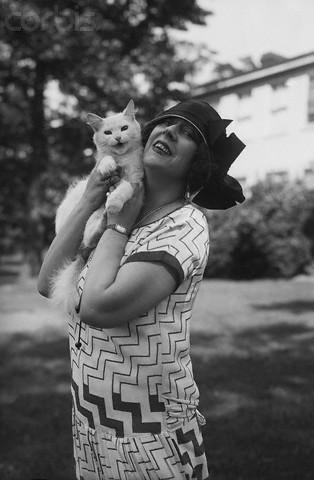 Olga Petrova and a cat