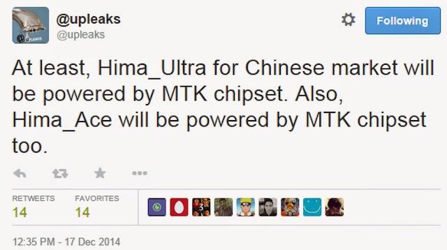 HTC Hima sẽ có thêm hai bản mở rộng Hima Ace và Hima Ultra