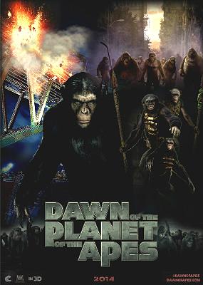 Filme Poster Planeta dos Macacos – O Confronto R6 XviD Dual Audio & RMVB Dublado
