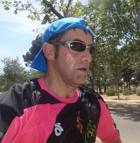 En bici, corriendo y nadando en el centro de Madrid