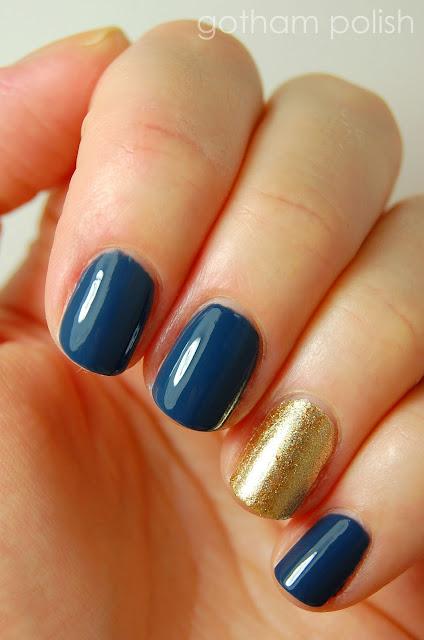 graduation manicure accent nail