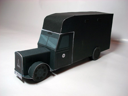 Gas Van Papercraft