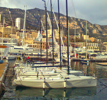 J/70s in Monaco Harbor