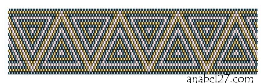 схема браслета из бисера с орнаментом