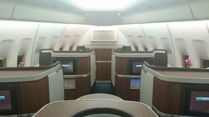 DSC 2989 - REVIEW - Cathay Pacific : First Class - Hong Kong to Tokyo (B747)