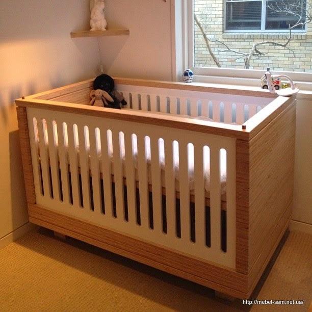 Детская кроватка из фанеры